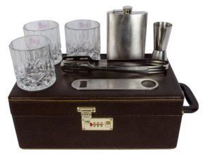 Portable-Leatherette-Briefcase-Bar-Set-for-men
