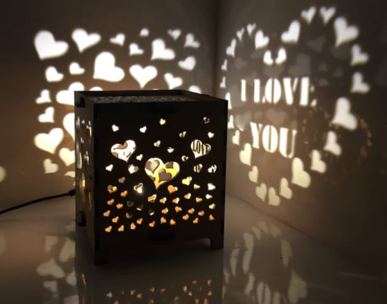 light emitting box for valentine day celebration with men