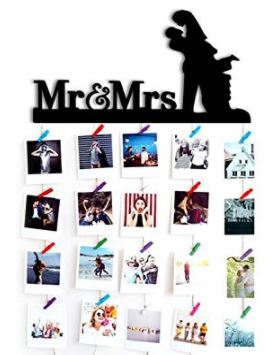 mr and mrs hanging romantic photo frame
