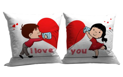 valentine day special pillow set to gift husband india