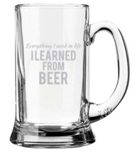 beer glass to gift husband on retirement